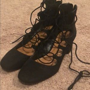 Aldo Chunky Heel with ankle lace up